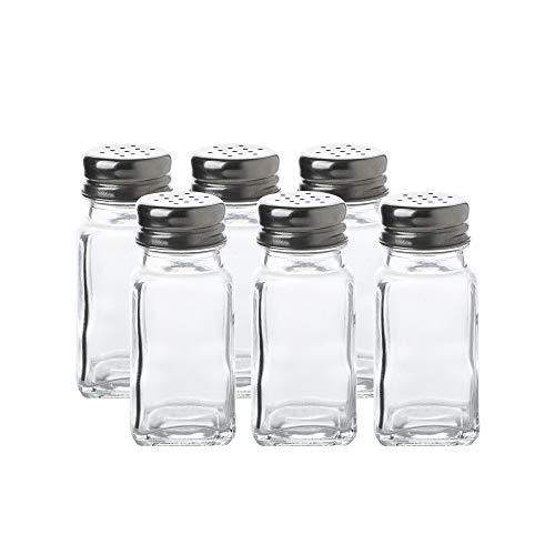 (Glass Salt and Pepper Shaker Set-6pcs Pack)