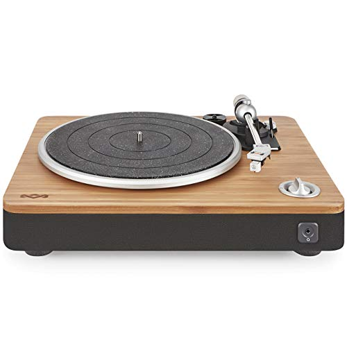 House of Marley, Stir It Up Turntable - 45/33 RPM, USB jack in back for analog to PC recording, Replaceable Cartridge, Bamboo Plinth, EM-JT000-SB Signature Black (Best Beat Em Up)