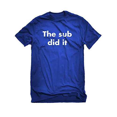 Mens The Sub Did it T-Shirt Royal Blue Large