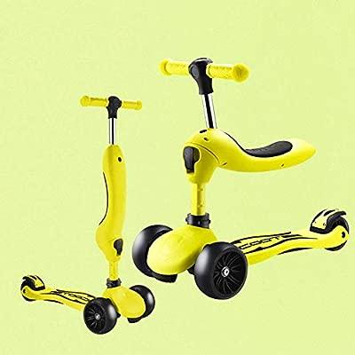 XQY - Patinete plegable para niños con rueda de inercia y ...