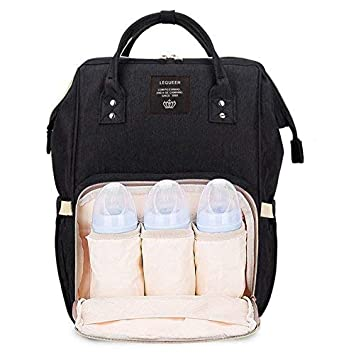 Robustrion Stylish Waterproof Multifunctional Diaper Bag for Mothers for  Travel Nappy Tote Backpack Large Size (20 x 18 x 40 cms) - Black   Amazon.in  Bags, ... 75ba55eba1