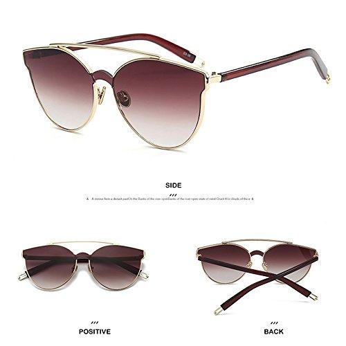 De Gafas Brown UV Sol Gafas Sol Sol Rana Sol Al De Brown De Gafas De Resistentes para Espejo Mujer wqx1qH0