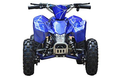 Sahara X Outdoor Kids Children 24V Blue Mini Quad ATV Dirt Motor Bike Electric Battery Powered (Mini New Atv Quad)