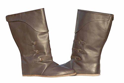 Botas media pierna de cuero / Botas altas de cuero / Zapatos de cuero de estilo medieval / Calzado medieval