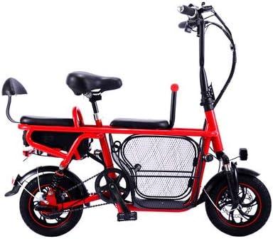 Jun Bicicleta Eléctrica para Adultos, Batería Plegable De Litio ...