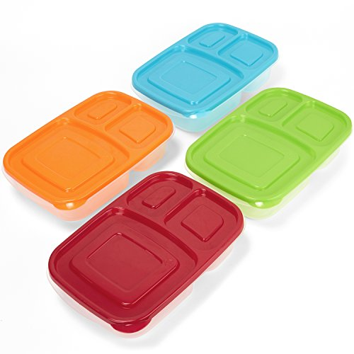 3 Compartment Containers Reusable Bento Lunch Box