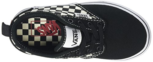 Vans Yt Atwood Slip-On, Zapatillas para Niños Negro (Checkers Black/natural)
