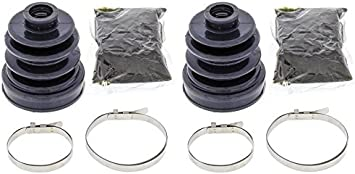 Complete Front /& Rear Inner /& Outer CV Boot Repair Kit for Yamaha 660 RHINO 2004