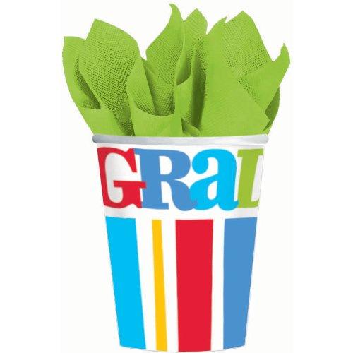 Bravo Grad 9 oz Cups (18 per package) Graduation Party Supplies