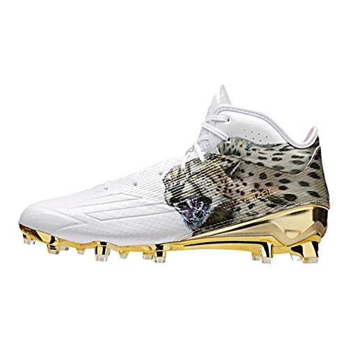 Adidas Menns Adizero 5-stjerners 5,0 Mid Uncaged Gepard-hvitt