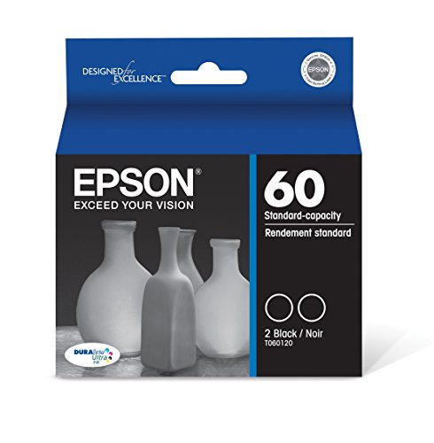 (Epson T060120-D2 DURABrite Ultra Black Dual Pack Standard Capacity Cartridge Ink)