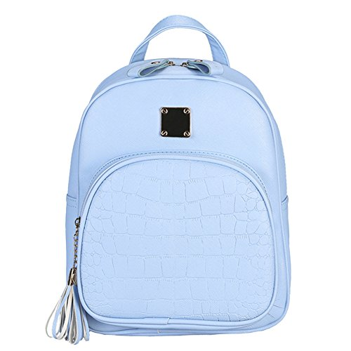 Embossed Bag Blue Fashion Backpacks Backpack Shoulder Leather Prosperveil PU Small Bag Women AgxCSz