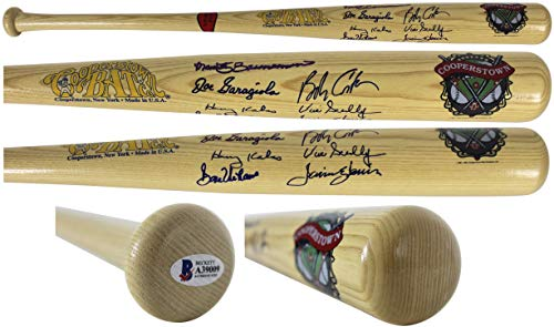 - MLB Announcers (7) Scully, Kalas, Garagiola, Costas Signed Bat BAS #A39009