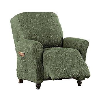 Amazon Com Decorative Leaf Stretch Slipcover Furniture