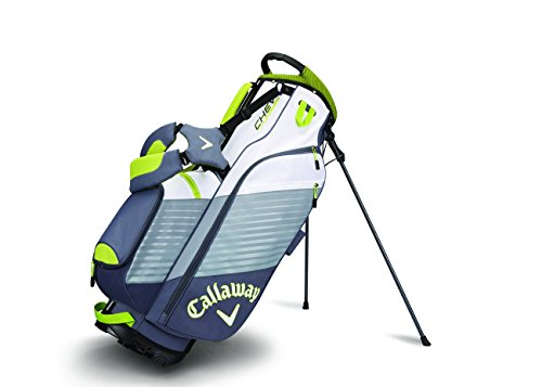 Callaway Golf Chev Stand Bag Stand / Carry Golf Bag 2017 Chev Titanium/White/Neon Green