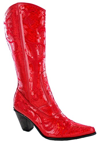 Helen's Heart Bling Boots (7, Red) by Helens Heart