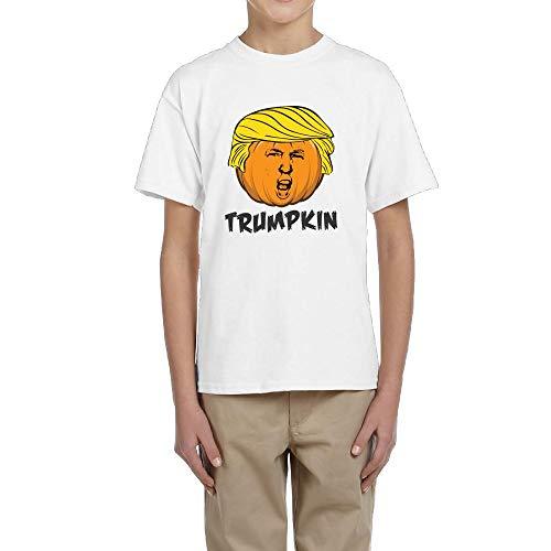 Youth Boys Girls Trumpkin Funny Halloween Trump Funny T-Shirt