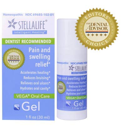 StellaLife VEGA Oral Gel: Dry Socket, Dry Mouth, Teeth Extraction, Gum Surgery, Canker Sore, Braces, Denture, Ulcer, Mucositis, Dental Implant, Advanced Natural Dental Pain Relief, Heal Faster, Mint by StellaLife