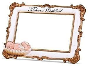 pack of 2 religious beloved godchild baptism photo frames 4 x 6