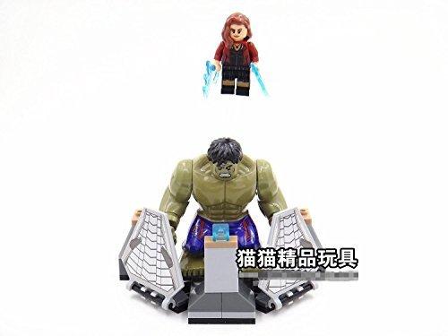 Super Heroes The Avengers Wanda Maximoff Iron Man Mark Hulk Ultron Assemble Building Blocks Minifigures Kids Toys