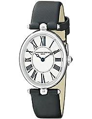 Frederique Constant Womens FC200MPW2V6 Art Deco Analog Display Swiss Quartz Black Watch