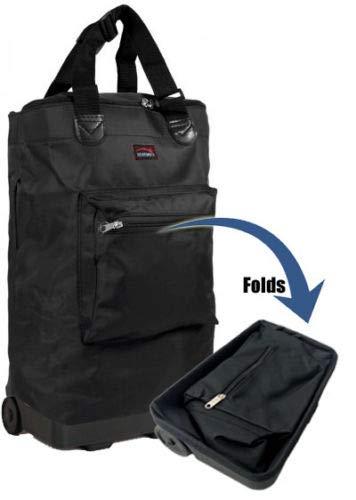 Amazon.com: Wheeled Hand Luggage Cabin Bag Folding Flight ...