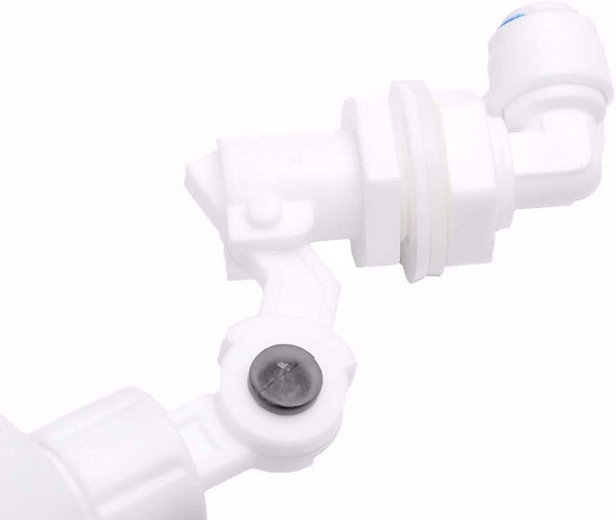 AILOVA Aquarium Plastic Float Ball Valve Shut Off Automatic Feed Fill Fish Tank Water Filter Reverse Osmosis System With Connector