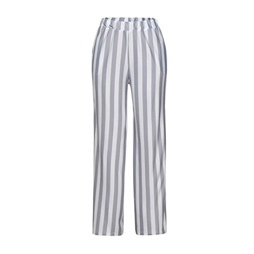 Price comparison product image Goodtrade8® Clearance Sale! Women Casual Wide Leg Pants Stripe Workout Leggings Sports Running Yoga Athletic Pants Fashion Joggers Fitness Trouser (M,  Gray)