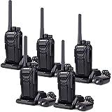 Retevis RT27 Walkie Talkies Rechargeable 22CH Scrambler VOX Function Handheld 2 Way Radio (Black,5 Pack)