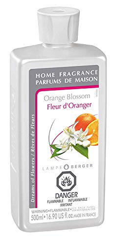 Orange Blossom | Lampe Berger Fragrance Refill by Maison Berger | for Home Fragrance Oil Diffuser | Purifying and perfuming Your Home | 16.9 Fluid Ounces - 500 milliliters | Made in France
