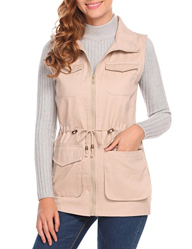Womens Clothing : Vests Khaki - 3