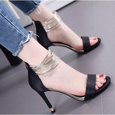 US6 3 EU36 Verano Confort Negro Verde De Seda Mujeres'S CN36 4A De UK4 Wedding Informal Confort Shoes RTRY Las 4 4 Pulg wxZf8HqnU
