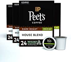 Peet's Coffee Single Serve K-Cup Decaffeinated Coffee Pods for Keurig Coffee Maker