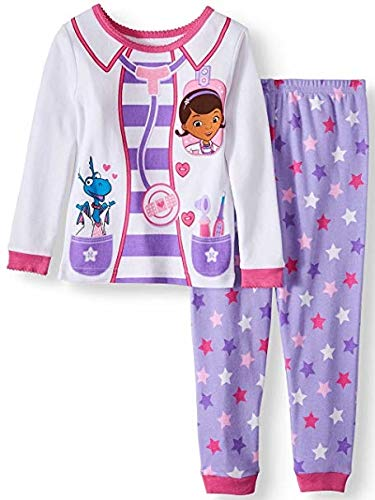 Disney Doc McStuffins 2 Piece Toddler Girls Sleepwear Pajama Set (2T) -