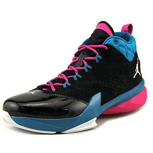 (Nike Jordan Mens Jordan Flight Time Black/White/Trpcl Teal/Fsn Pnk Basketball Shoe 11.5 Men US)