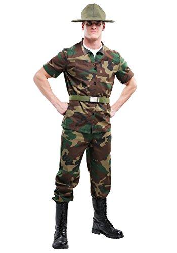 Men's Drill Sergeant Costume - L
