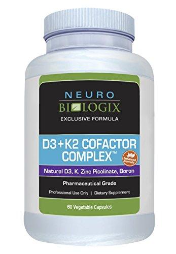 Vitamin D3 + K2 Cofactor Complex (10,000 IUs/45 Mcg) - 60 Capsules by Neurobiologix
