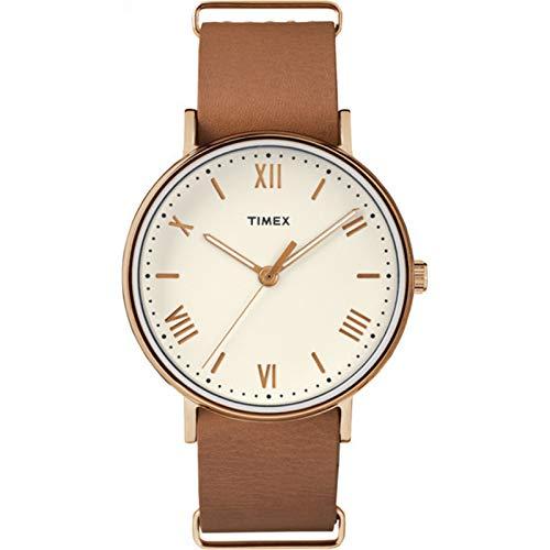Timex Men's Southview 41mm Leather Strap |Tan| Dress Watch TW2R28800 (Mens Timex Brown Watch)