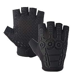 AdroitZ Bike Gloves/Outdoor Gloves/Racing Gloves for Men & Women_(Black)
