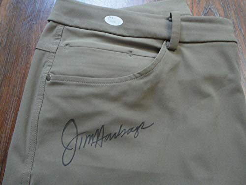 Jim Harbaugh Autographed Signed Memorabilia Michigan Wolverines Lululemon Khakis - JSA Authentic