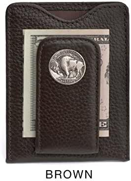 Tokens & Icons Buffalo Nickel Money Clip Credit Card Wallet (80B-P)