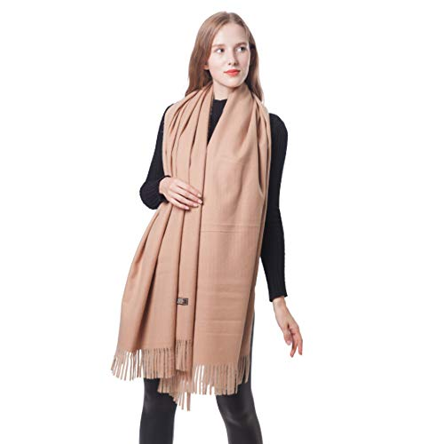 (Cashmere Pashmina Shawls and Wraps for Women Blanket Scarfs Camel Large Size 78