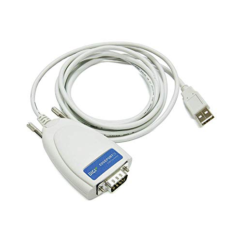 DIGI Edgeport/1 2-Meter Captive Cable 1P (301-1001-15) RS-232 serial DB-9, captive 2 meter - Usb Edgeport/4 Digi