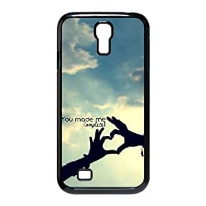 Samsung Galaxy S4 Case, Unique Design you made me complete quotes Case For Samsung Galaxy S4 {Black}
