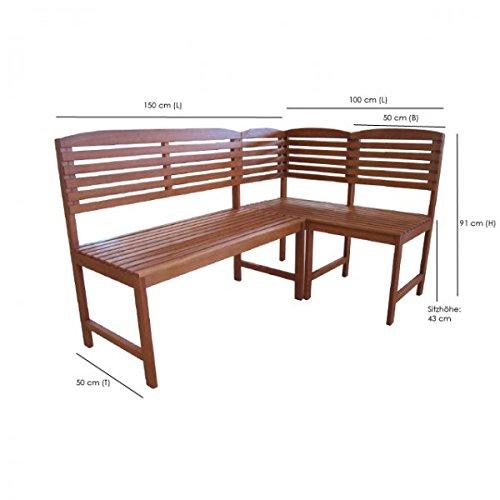 Amazon De Flexible Eckbank Aruba 3tlg 2sitzer Gartenbank Stuhl
