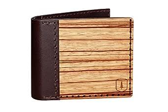 BeWooden Cartera de cuero y madera Lineari - cartera para ...