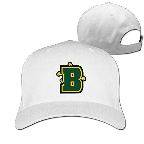 Yesher Funny Brockport College - B Logo Baseball Cap - Adjustable Hat - White