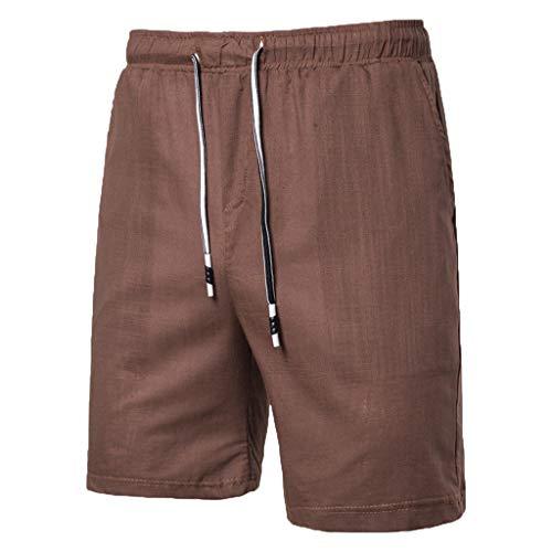 Simayixx Men's Casual Shorts Workout Comfy Shorts Summer Breathable Loose Shorts Teen Boys Basketball Short Pants Brown ()