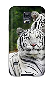 DeirdreAmaya Design High Quality White Bengal Tigers Cover Case With Excellent Style For Galaxy S5