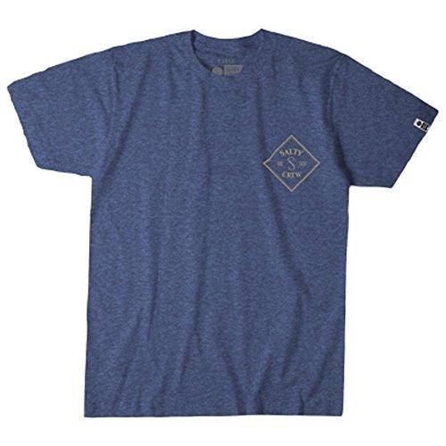 Salty Crew Men's Tippet S/S T-Shirt, Navy Heather, X-Large Texas Dirt Shirt